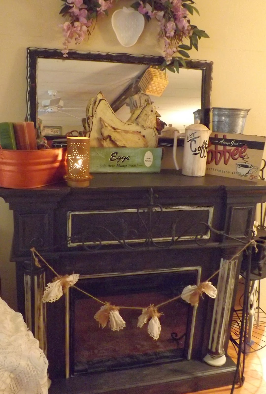 Glidden Smoky Charcoal sweet tea n & salty air with the love of vintage & country