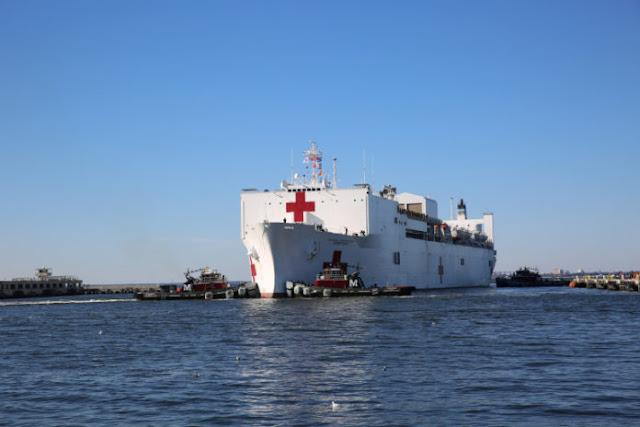 Comando Sur informó que buque hospital está listo para asistencia en Latinoamérica