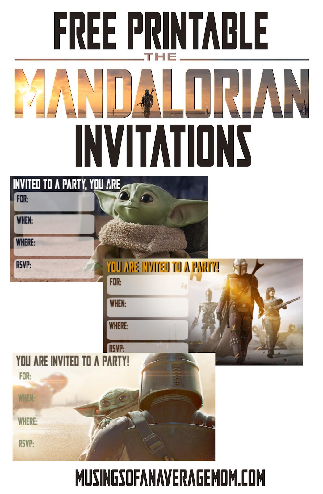 the mandalorian invitations