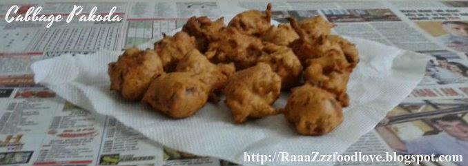 how to make cabbage pakoda