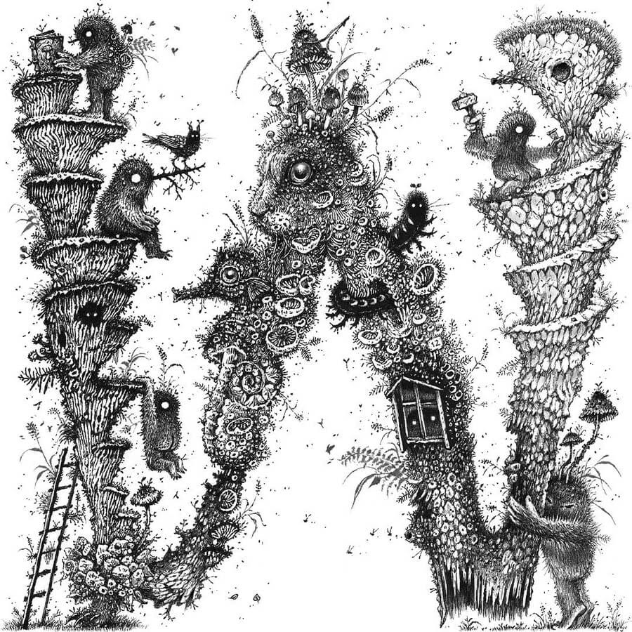 01-W-Monsters-at-work-Monika-Mitkute-www-designstack-co
