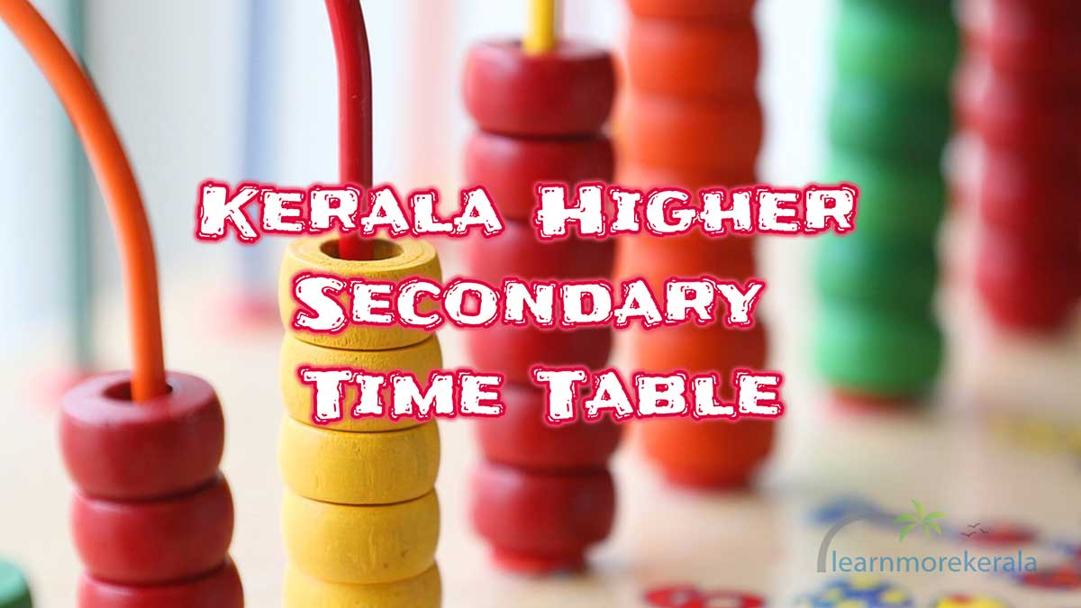 higher secondary timetable
