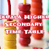 Kerala Higher Secondary Examination Time Table March 2020