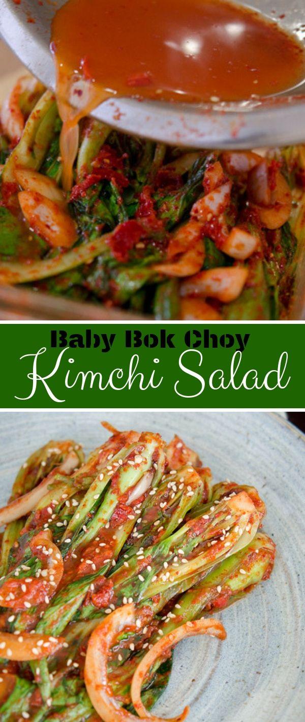 Baby Bok Choy Kimchi Salad #Baby #Bok #Choy #Kimchi #Salad Healthy Recipes Easy, Healthy Recipes Dinner, Healthy Recipes Best, Healthy Recipes On A Budget,