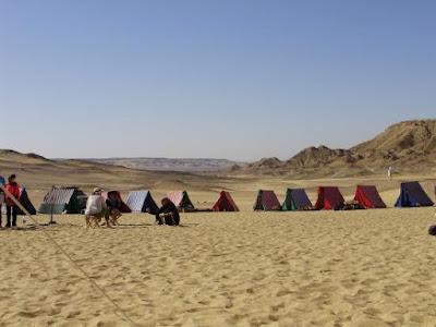tents in desert