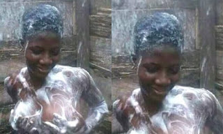 Trending Photo of Nigerian Lady Bathing In Na3kd