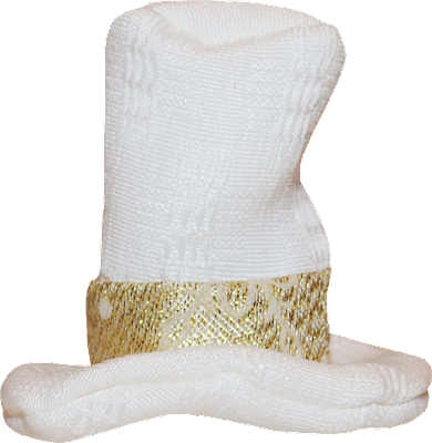 new years top hat white