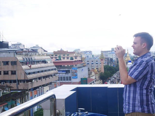 looking out over Yangon
