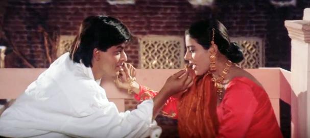 dilwake dulhaniya le jayenge karwa chauth scene shah rukh khan romantic