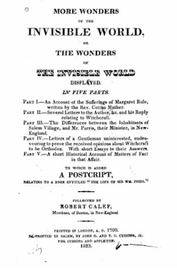 Climbing My Family Tree: More Wonders of the Invisible World, by Robert Calef, 1823