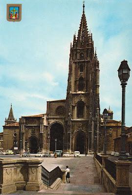 postal, catedral, Oviedo, Alce, Escudo de Oro