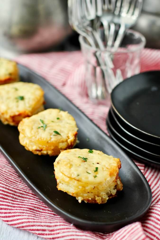 Potato Stacks with Herbs and Cheese