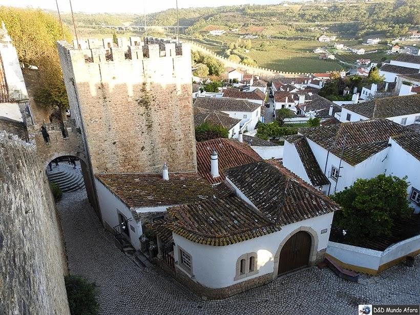 Cidade de Óbidos vista das muralhas, Portugal