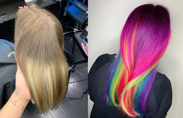 Glitch hair cabelos antes e depois