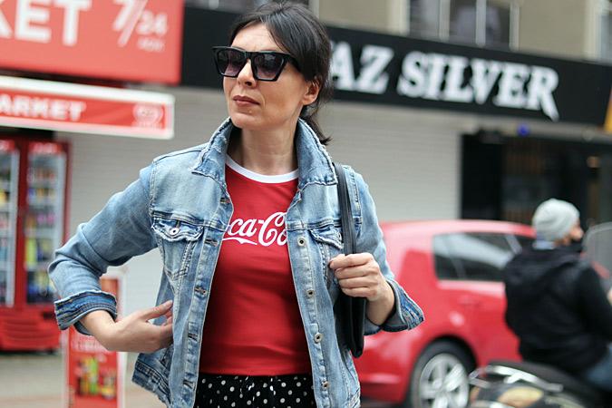czerwony tshirt damski do czego