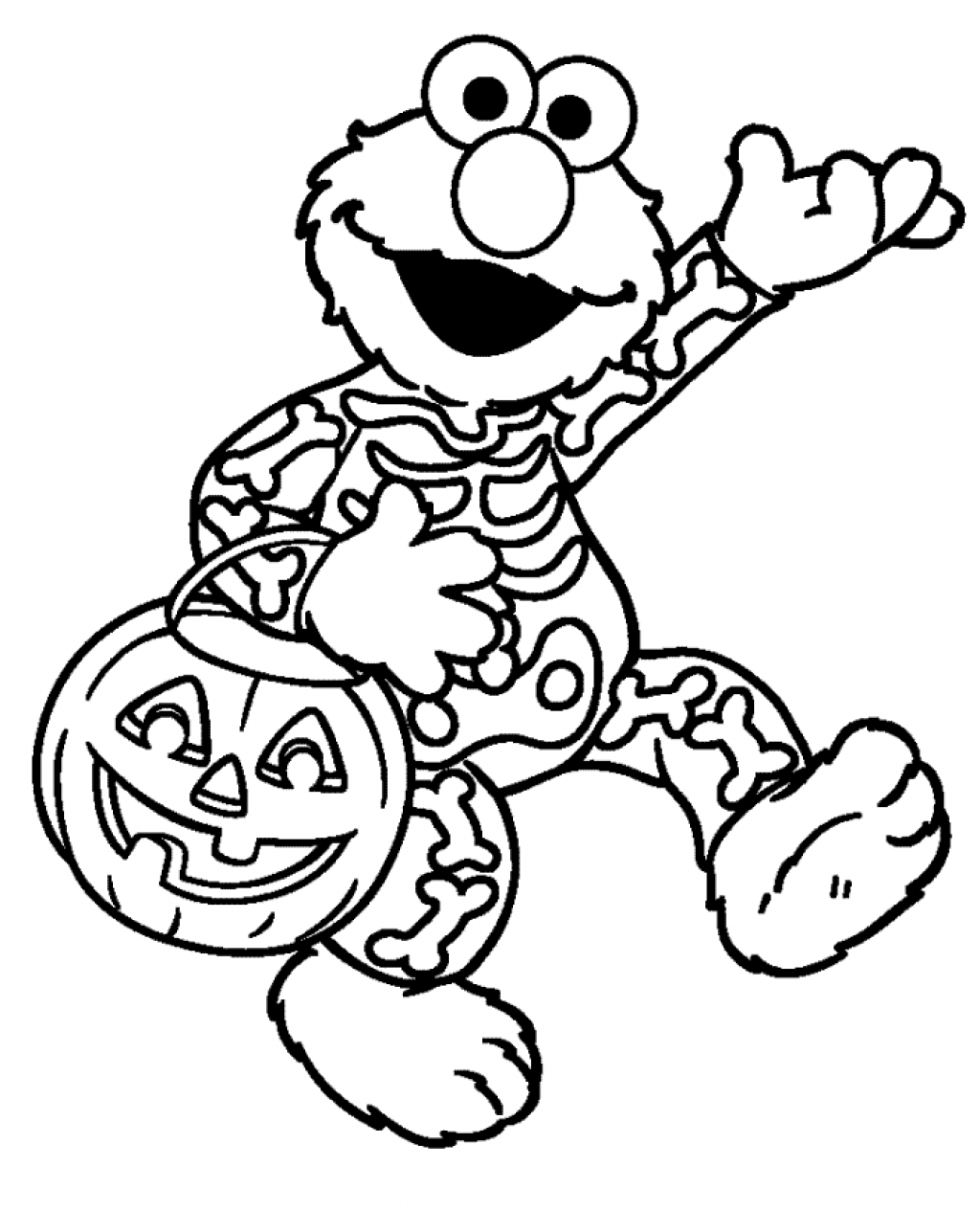 halloween printable halloween goblin coloring pages