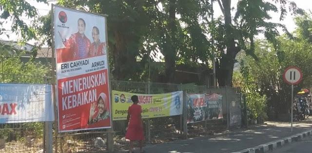 Gambarnya Nongol di Baliho Eri-Armuji, Risma Diminta Mundur Sebagai Walikota Surabaya