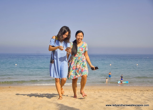 Joy and Lady in Fujairah Rotana Resort