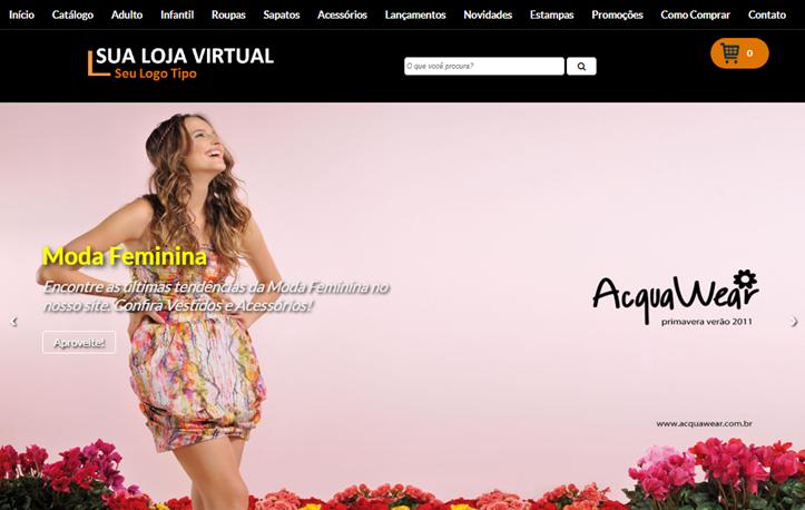 Template para loja virtual para blogger do Google