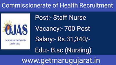 Commissionerate of Health (COH) Staff Nurse Recruitment