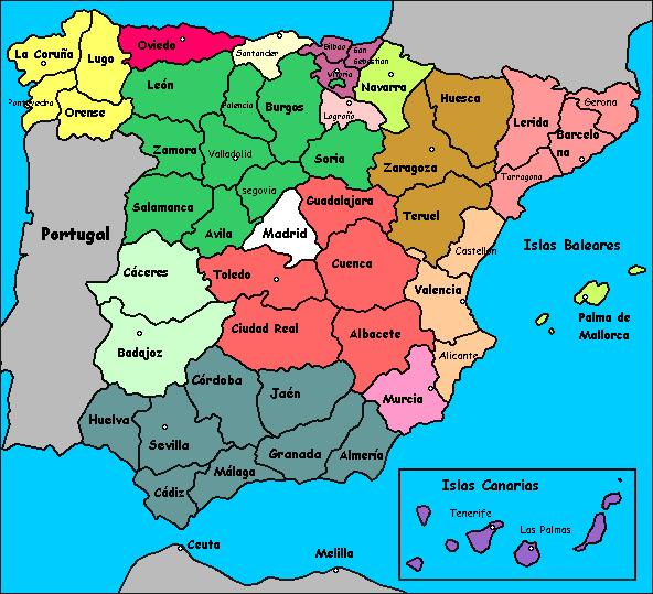 Www Mapa De Espana.Mapa Espana