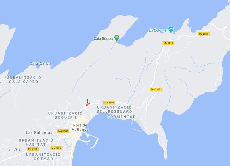 Parcheggio a Port Pollenca