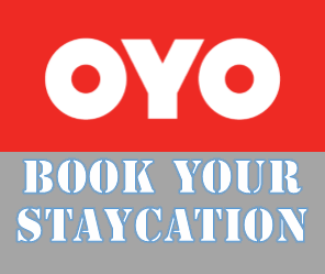 oyo hotel, book, staycation, discount, room