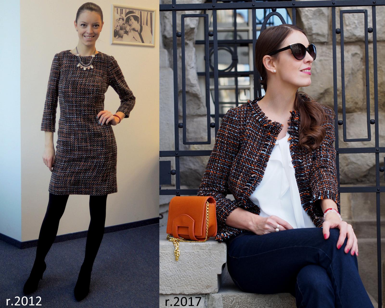 refashion / recycling: ako zo zimných šiat vzniklo trendy sako na každý deň // from winter dress to trendy blazer for every day