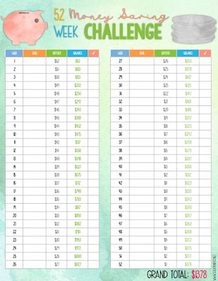 Money Savings Challenge FREEBIE