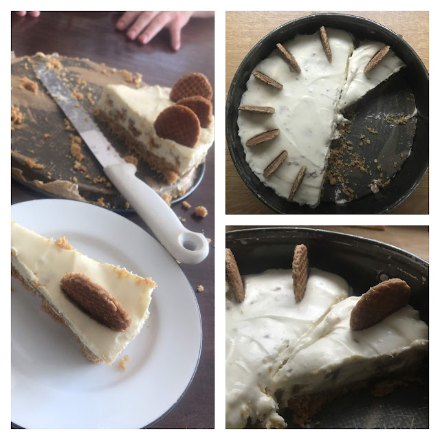 no bake stroopwafel cheesecake van laura's bakery