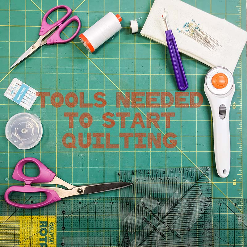 Trying to figure out what tools you need to start quilting? I've got you covered.