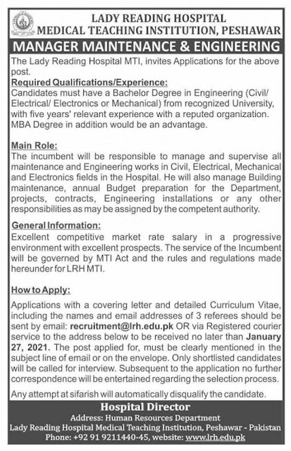 lady-reading-hospital-lrh-peshawar-jobs-2021-advertisement