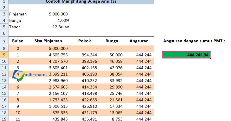 cara menghitung bunga bank menggunakan