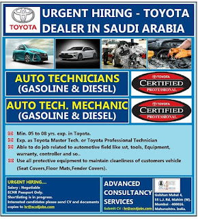 Hiring Toyota Dealer in Saudi Arabia