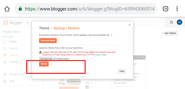 download your blog data