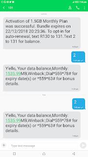 Imei 100% data bonus