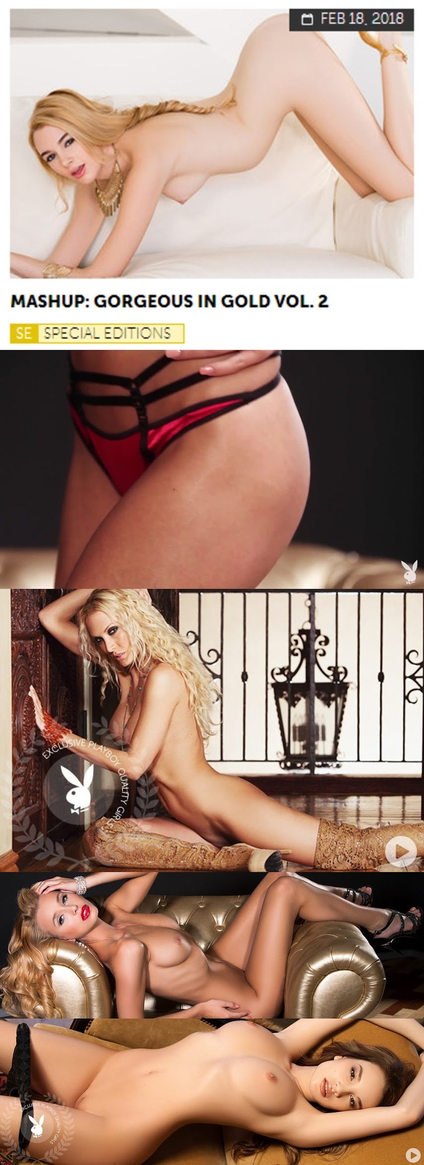 Playboy PlayboyPlus2018-02-18 Mashup Gorgeous in Gold Vol. 2 - Girlsdelta
