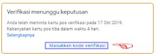 Cara verifikasi Google Bisnisku