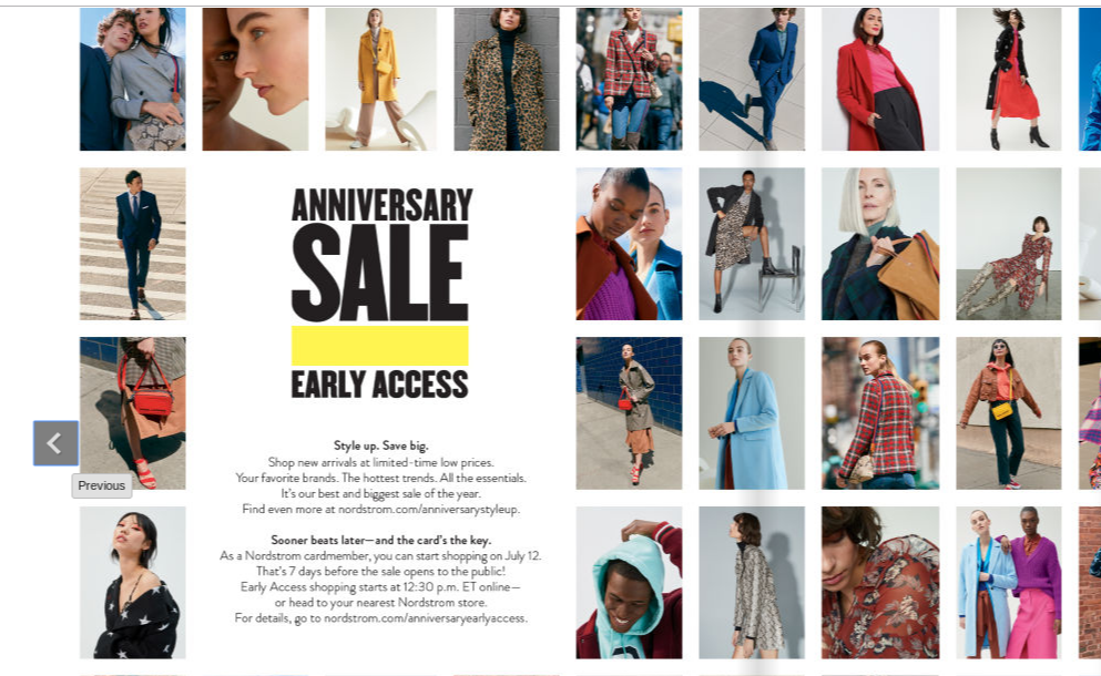 2019 Nordstrom Anniversary Sale catalog