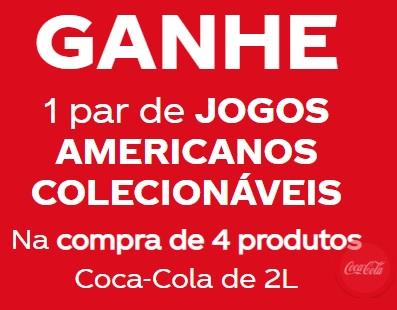 Promoção Dia das Mães 2021 Coca-Cola Jogo Americano - Postos de Troca, Produtos