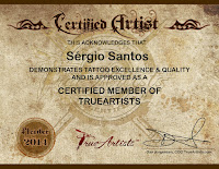 Sérgio Santos certified True Artist tattoo association