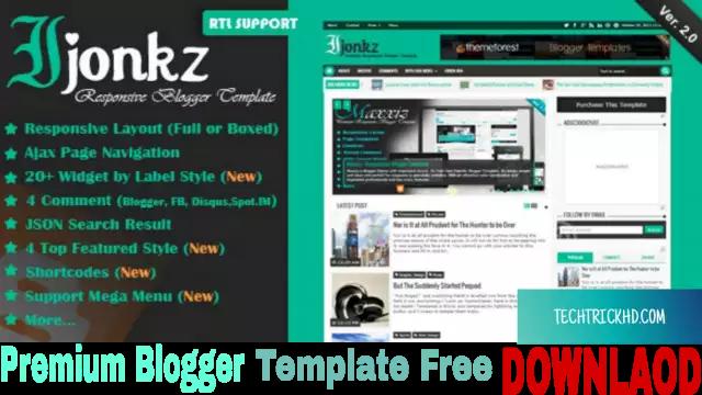 Ijonkz - Responsive Magazine/News Premium Blogger Template