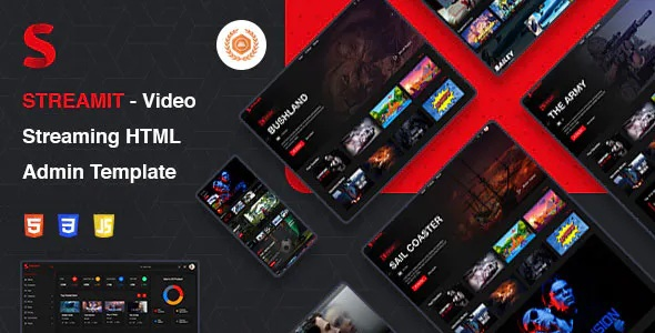 Best Video Streaming HTML Admin Template
