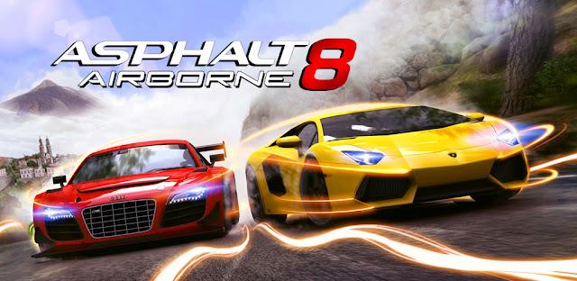 لعبة سباق السيارات للأندرويد Asphalt 8 : Airborn