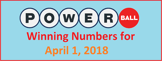 PowerBall Winning Numbers for Sunday, 1st April 2018