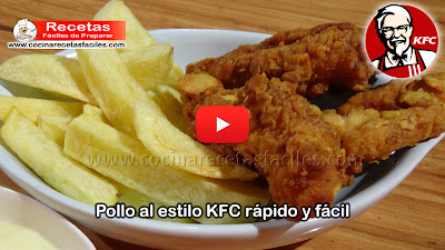 Una receta fácil y rápida que te va a encantar: ¡Pollo al estilo KFC sencillo y rápido.