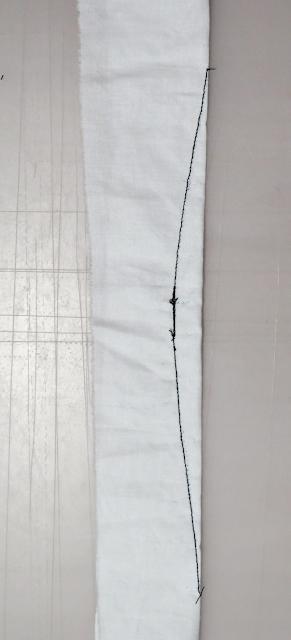 Pinza cosida e hilos anudados y cortados