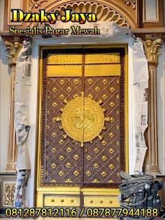 Contoh model pintu besi tempa klasik motif pintu Madinah.
