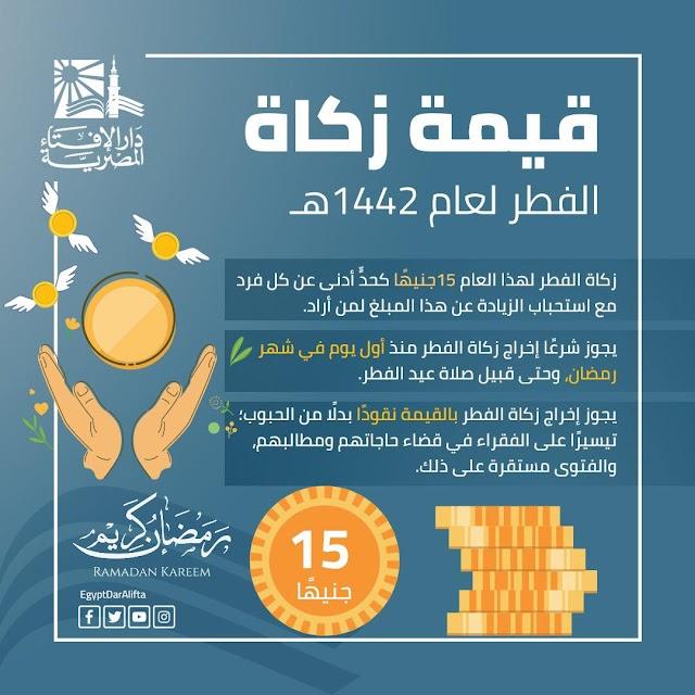 دارالأفتاء المصرية تحدد الحد الأدني لقيمة زكاة الفطر..تعرف علي التفاصيل