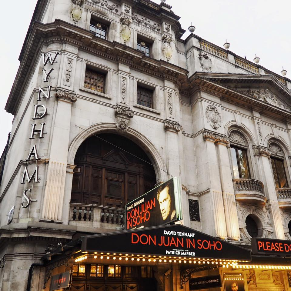 This is a picture of the wyndhams theatre in soho where David Tennant is starring as don juan